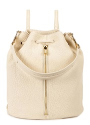 Elizabeth And James Cynnie Sling Cream Leather Backpack