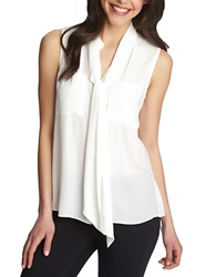 1 State Necktie Sleeveless Blouse New Ivory