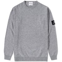 Mki Miyuki Zoku Arm Badge Lambswool Crew Knit Grey
