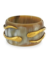 Ashley Pittman Light Horn Double Snake Bangle Bracelet