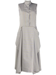 Mulberry Striped Flared Dress 60