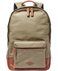 Fossil Estate Canvas Backpack Olive