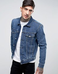 Edwin High Road Denim Jacket Mid Sleet Wash Mid Sleet Wash Blue