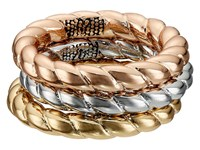 Sam Edelman Twisted Rope Ring Set Tri Tone Ring Gold