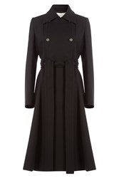 Nina Ricci Belted Coat With Wool Black
