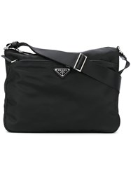 Prada Nylon Messenger Bag Black