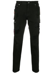 Dolce And Gabbana Crown Patches Skinny Jeans 60