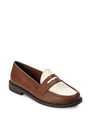 Cole Haan Pinch Campus Leather Penny Loafers Brown