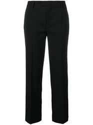 Red Valentino Cropped Pleated Trousers Black