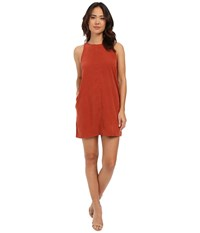 Brigitte Bailey Anna Suede Swing Dress Rust Women's Dress Red