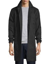 Theory Varvo Hs Morist Long Trench Coat Black Men's