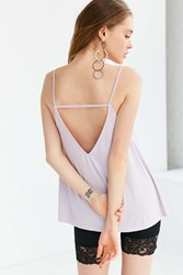 Silence And Noise Stella Strappy Swing Cami Lavender