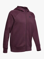 Under Armour Rival Fleece Sportstyle Full Zip Training Hoodie Level Purple
