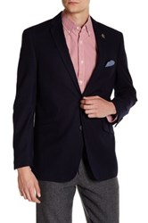 U.S. Polo Assn. Navy Two Button Notch Lapel Modern Fit Suit Separates Sports Coat Blue