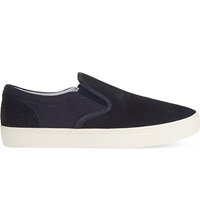 Kg By Kurt Geiger Caunton Leather Trainers Navy