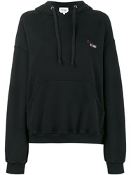 Re Done Cindy Crawford Oversized Hoody Cotton Black