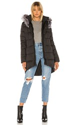 The North Face Dealio Down Parkina With Faux Fur Trim In Black. Tnf Black