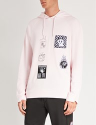 Mcq By Alexander Mcqueen Badge Twisted Cotton Jersey Hoody Post It Pink