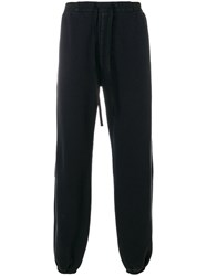 Unravel Project Loose Fit Track Pants Cotton Polyester Spandex Elastane M Black
