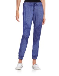 Betsey Johnson Ribbed Accent Knit Pants True Blue