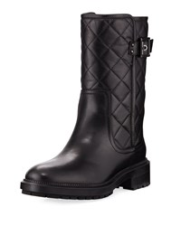Aquatalia By Marvin K Layla Quilted Leather Boot Black