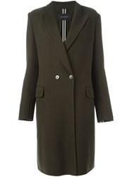 Cedric Charlier Double Breasted Coat Green