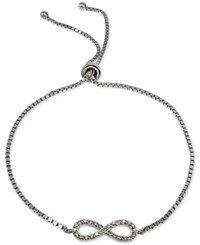 Giani Bernini Cubic Zirconia Infinity Adjustable Bracelet In Sterling Silver Only At Macy's