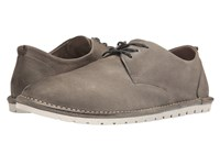 Marsell Suede Lace Up Plain Toe Oxford Grey Men's Shoes Gray