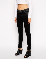 Just Female Washed High Waist Skinny Jeans Black