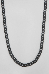 Urban Outfitters Link Chain Necklace Black