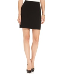 Studio M Ponte Pull On Skirt Black