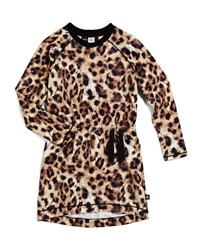 Molo Cassida Leopard Print Raglan Dress Tan