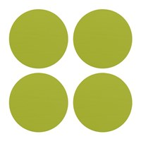 Amara Round Leather Coasters Set Of 4 Lime