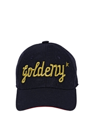 Golden Goose 'Goldeny' Cotton Canvas Baseball Hat Navy