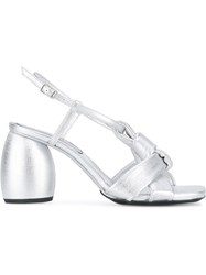Dries Van Noten Oval Heel Sandals Metallic
