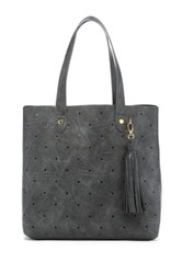 Steve Madden Hole Punch Tote Gray