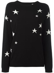 Chinti And Parker Slouchy Star Jumper Black