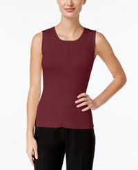 Tommy Hilfiger Ribbed Knit Tank Top Merlot