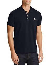 Moncler Pique Regular Fit Polo Shirt Navy