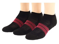 Thorlos 84N Micro Mini 3 Pair Pack Black Dark Pink Women's Low Cut Socks Shoes