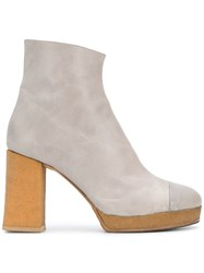 Chalayan Platform Ankle Boots Grey
