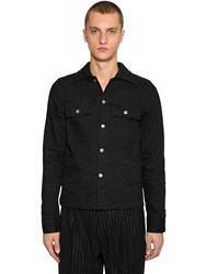 Maison Martin Margiela Bi Fabric Denim And Wool Jacket Black