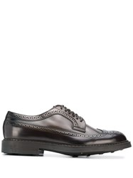 Doucal's Brogue Style Lace Up Shoes Brown