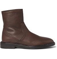 Burberry Towersley Grained Leather Boots Brown