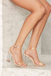 Clear The Air Lucite Heel