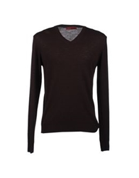 Vneck V Necks Dark Brown