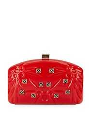 Valentino Miscellaneous Studded Convertible Clutch Red