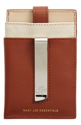 Want Les Essentiels 'S 'Kennedy' Leather Money Clip Card Case