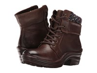 Bionica Romulus Sturdy Brown Purple Women's Lace Up Boots