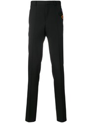 Givenchy Trousers With Patch Appliques Polyester Acetate Cupro Wool Black